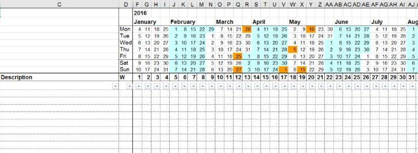 Project Gantt Excel Generator